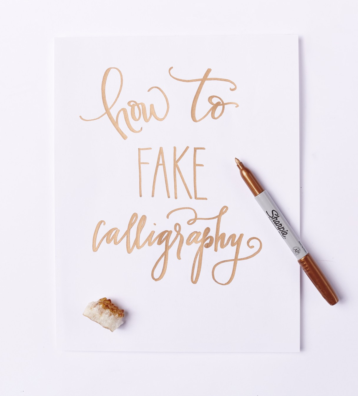 How To Fake Calligraphy By Sarah Ward